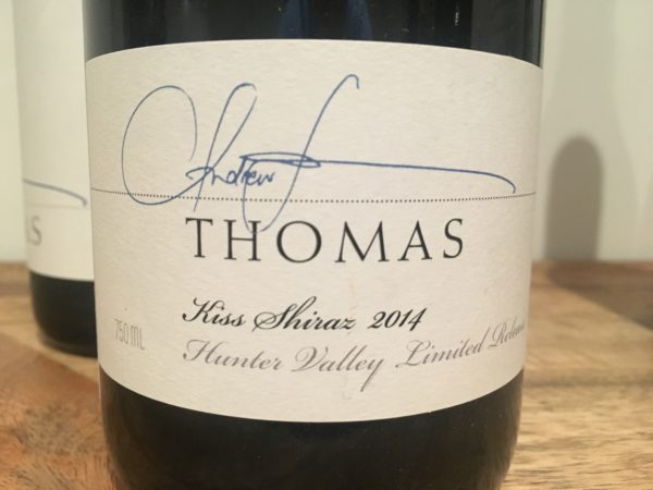 Thomas Wines Kiss Shiraz 2014