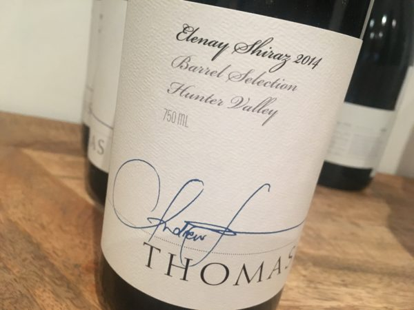 Thomas Wines Elenay Shiraz 2014
