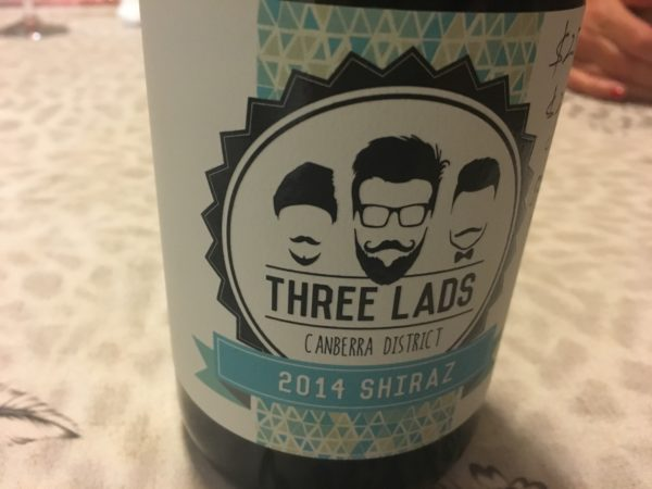 Three Lads Canberra Shiraz