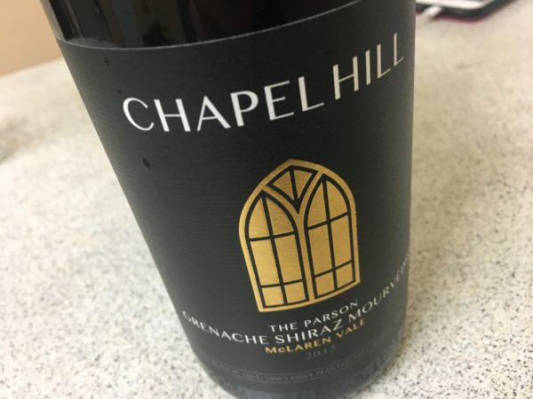 Chapel Hill The Parson Grenache Shiraz Mourvedre 2015