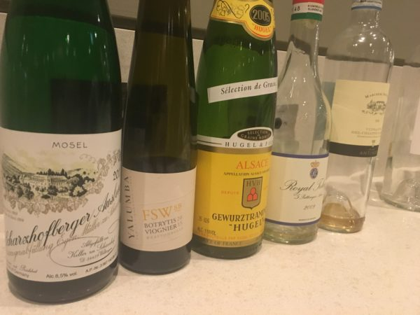 Working With Wine Highlights: Sweet Wines Flight 1