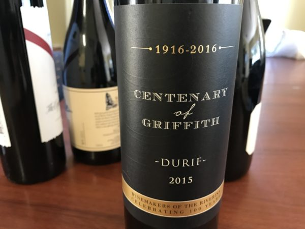 Centenary of Griffith Durif 2015