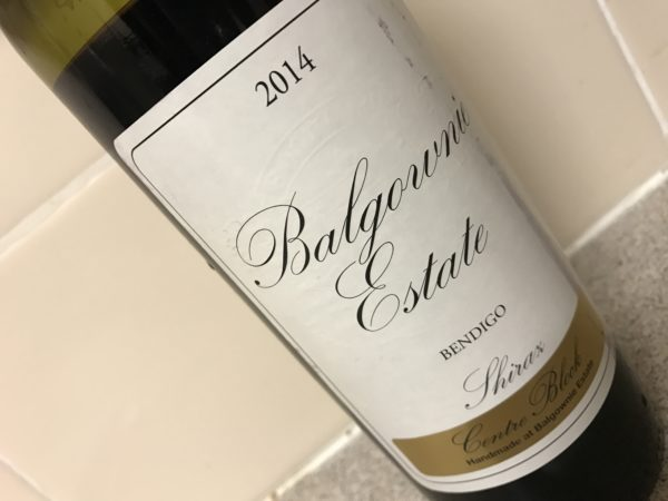 Balgownie Estate Centre Block Shiraz 2014