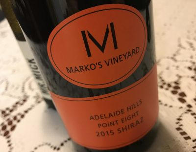 Marko's Vineyard Point Eight Adelaide Hills Shiraz 2015