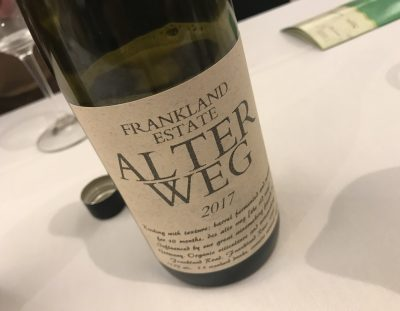 Frankland Estate Alter Weg Riesling 2017