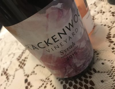Brackenwood Vineyard Syrah 2015