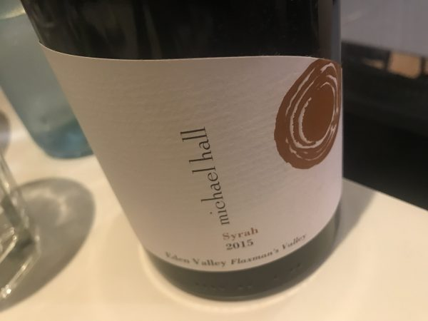 Michael Hall Flaxman's Valley Syrah 2015