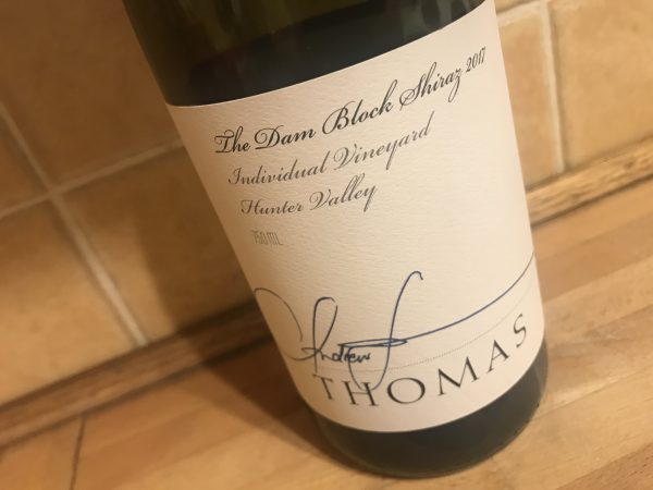 Thomas Wines 'The Dam Block' Shiraz 2017