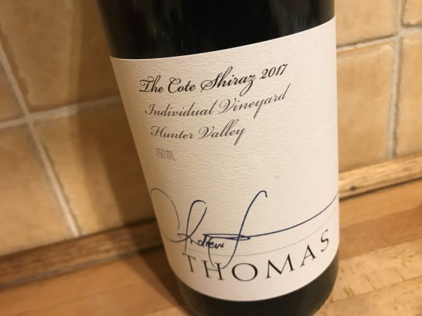 Thomas Wines The Cote Shiraz 2017