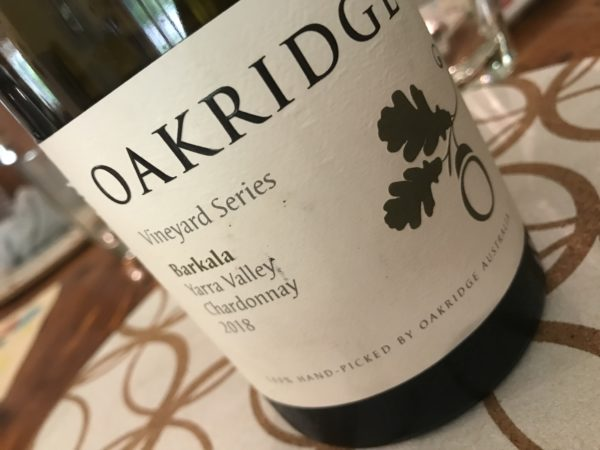 Oakridge Vineyard Series Barkala Chardonnay 2018